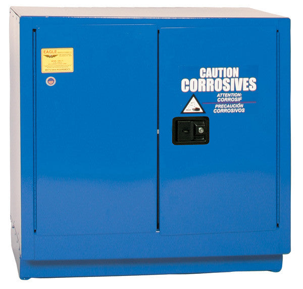 22 Gallon Manual Closing Under Counter Acid and Corrosive Safety Cabinet - Eagle