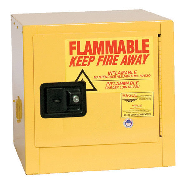 2 Gallon Self Closing Bench Top Flammable Liquid Safety Cabinet - Eagle