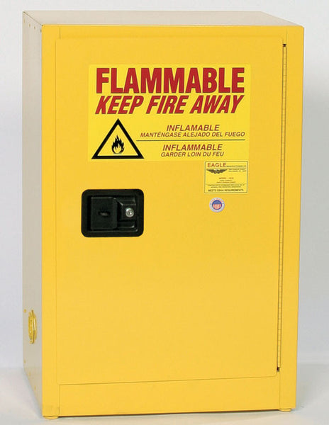 12 Gallon Manual Closing Space Saver Flammable Liquid Safety Cabinet - Eagle