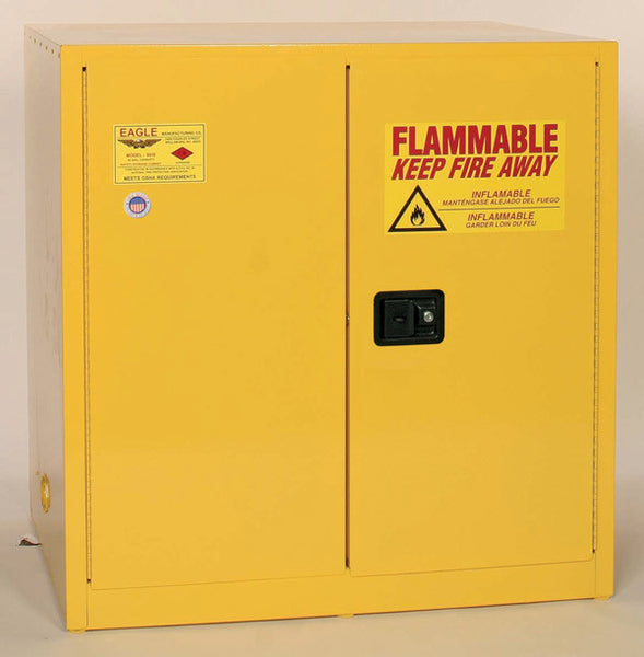 60 Gallon Manual Closing Work Bench Flammable Liquid Safety Cabinet - Eagle