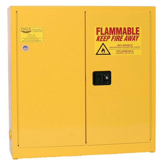 24 Gallon Manual Closing Wall Mount Flammable Liquid Safety Cabinet - Eagle