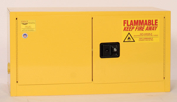 15 Gallon Manual Closing Add On Flammable Liquid Safety Cabinet - Eagle