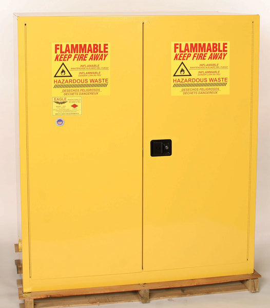 110 Gallon Self Closing Haz Mat Two Drum Vertical Safety Cabinet - Eagle