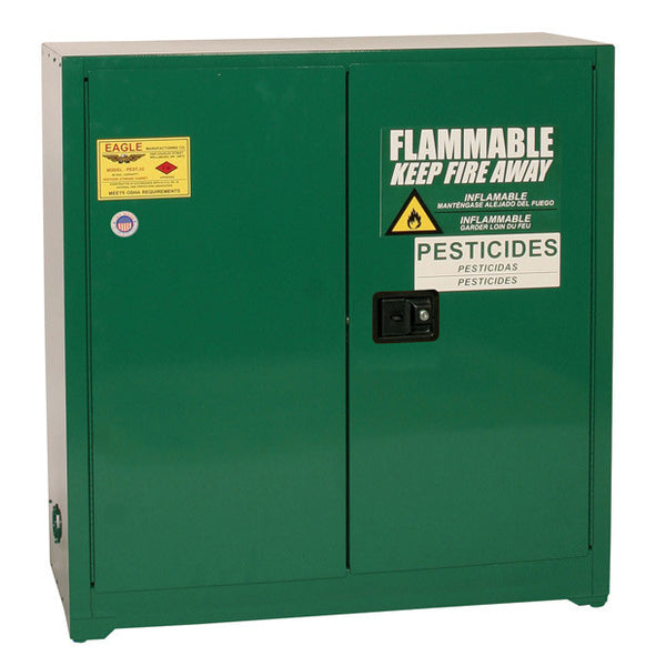 30 Gallon Manual Closing Pesticide Safety Cabinet - Eagle