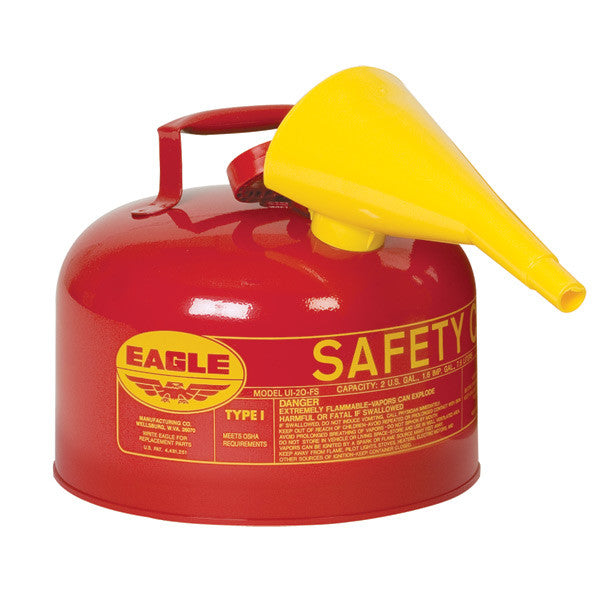 Red (Gasoline) - Type I Metal Safety Can