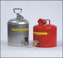 Faucet Safety Can - 5 Gallon Red Metal