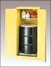 55 Gallon Self Closing One Drum Vertical Safety Cabinet - Eagle