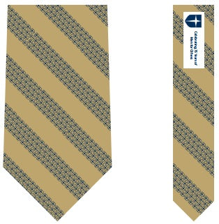 Vineyard Vines Gold Shield Anniversary Tie