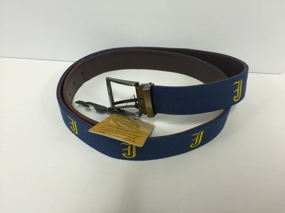 Navy Belt with Gold