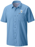 Columbia PFG White Cap Blue Slack camp shirt