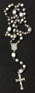 Gray and Silver Jesuit Rosary