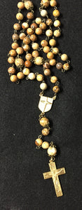 Gold and Brown Jesuit Rosary