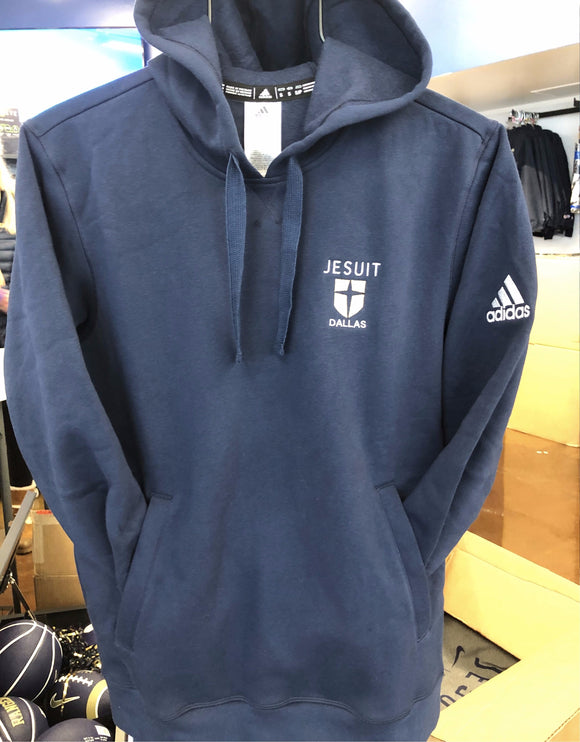 Navy embroidered Adidas Fleece Hoody