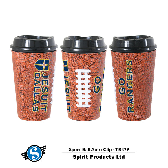 16oz Football Travel Tumbler