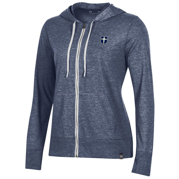 UA Women's bi-blend full zip hood