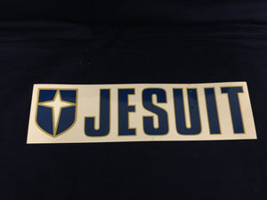 Jesuit w/Cross Car Decal