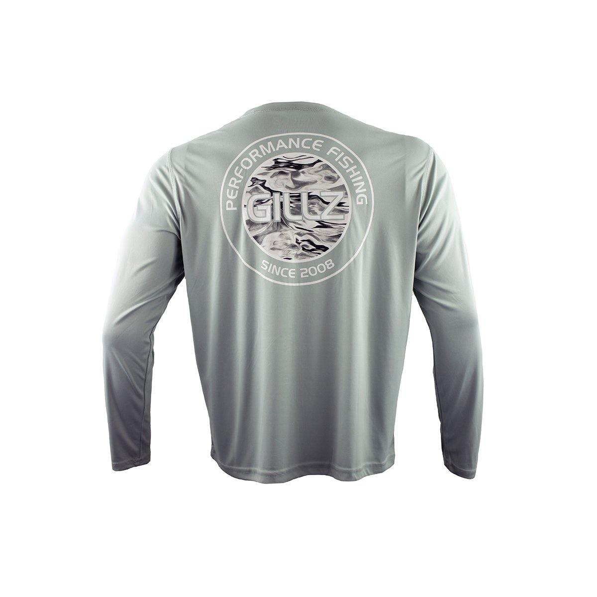 "GIllz Men's Long Sleeve UV ""Waterman Circle"" - High Rise Grey"