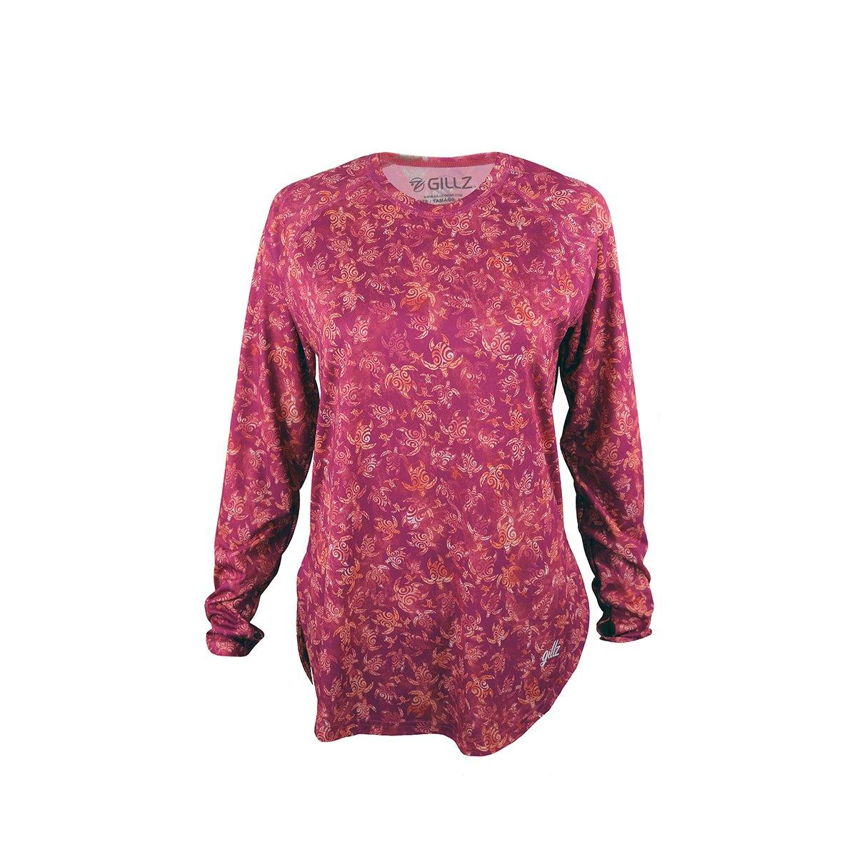 "Gillz Women's Long Sleeve Seabreeze ""Turtle Tribe"" - Cactus Flower"
