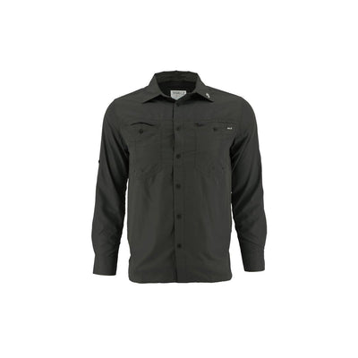 Gillz Men's Long Sleeve Elite Angler Shirt - Black