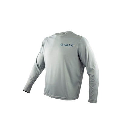 "Gillz Men's Long Sleeve UV ""True Florida Marlin"" - High Rise Grey"