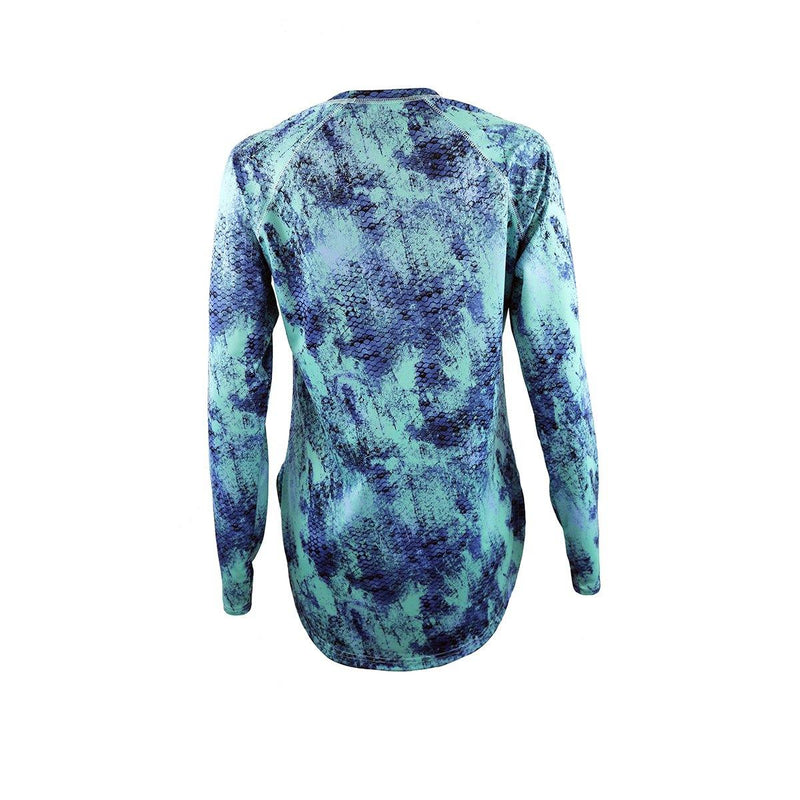 "Gillz Women's Long Sleeve Seabreeze ""Grunge Scales AOP"""