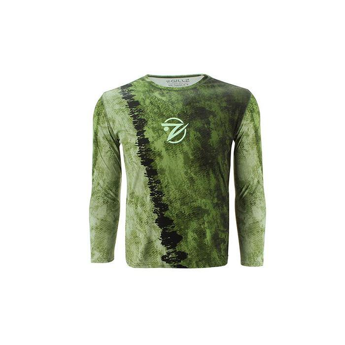 "Gillz Men's Long Sleeve UV ""Extreme Scales"" - Bass"