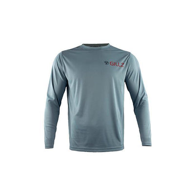 "Gillz Men's Long Sleeve UV ""American Fishhead"" - Stone Blue"