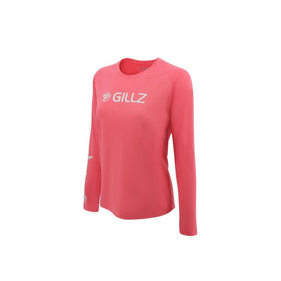"Gillz Women's Long Sleeve UV ""Flying Tarpon"" - Calypso Coral"