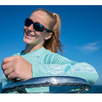 "Gillz Women's Long Sleeve UV ""Infinity Fish"" - Ocean Wave"
