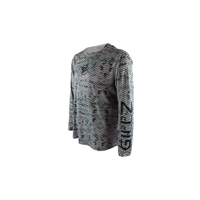 "Gillz Men's Long Sleeve UV ""Extreme Scales All Over Print"""