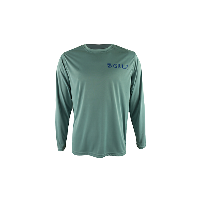 "Gillz Men's Long Sleeve UV ""Fighting Tarpon"" - Stone Blue"