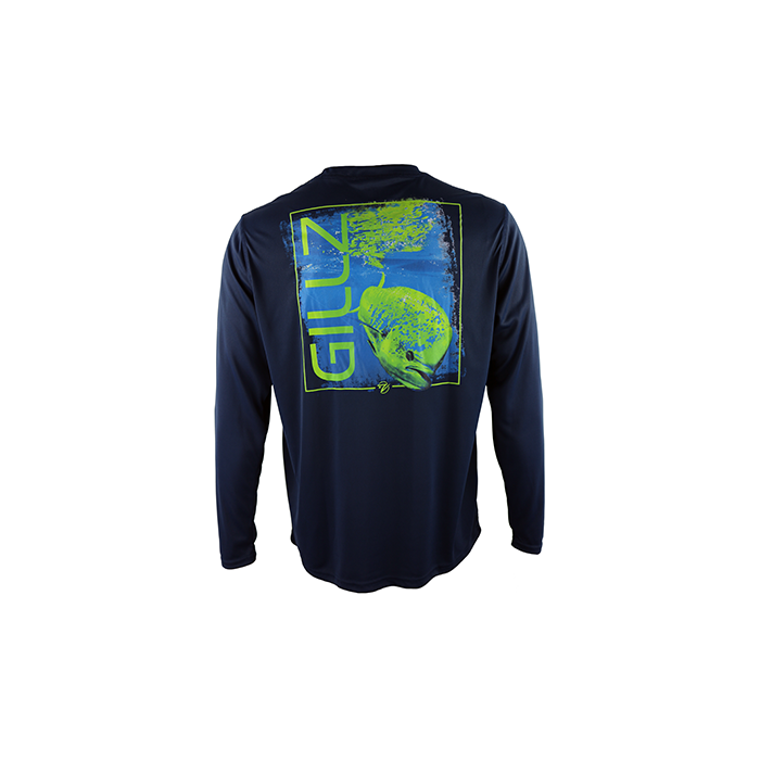 "Gillz Men's Long Sleeve UV ""Mahi Photo Reel"""