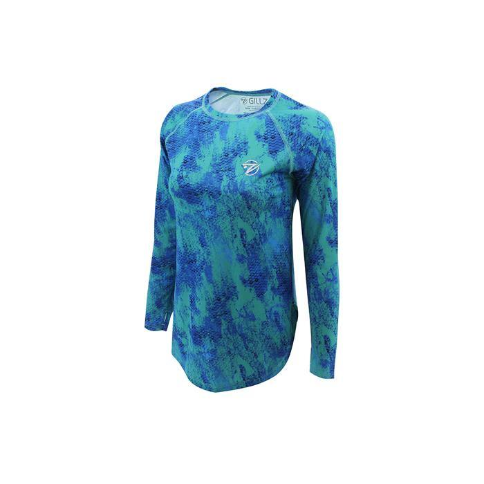 SeaBreeze Grunge Scales AOP Long Sleeve Fishing Shirt - Gillz