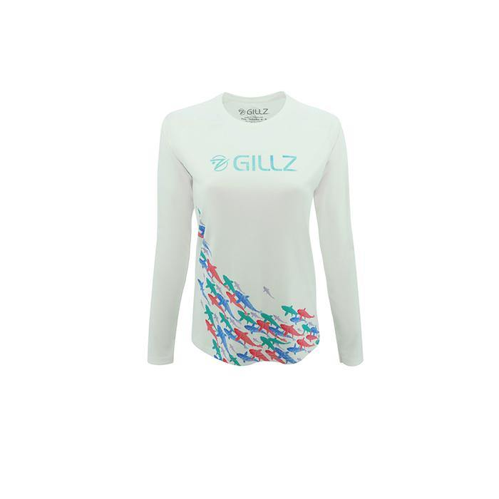Here Fishy Fishy Swirl AOP Long Sleeve Fishing Shirt