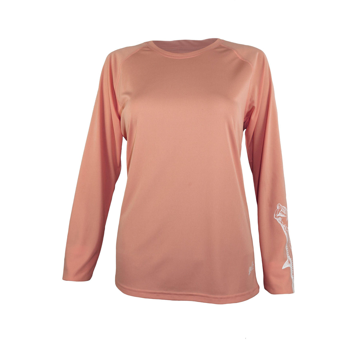 "Gillz Women's Long Sleeve UV ""Tarpon Sleeve"" - Papaya Punch"