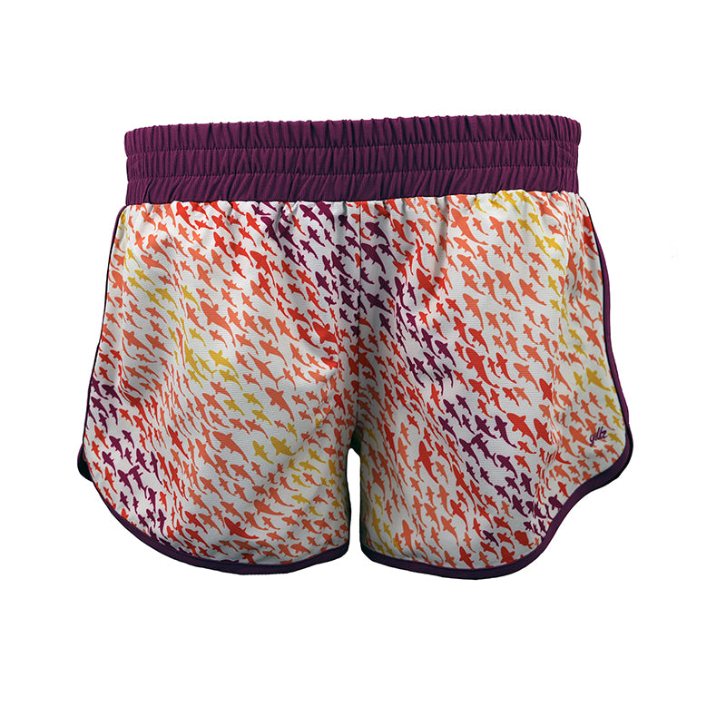 "Gillz Women's Dolphin Short ""Here Fishy Fishy AOP"""