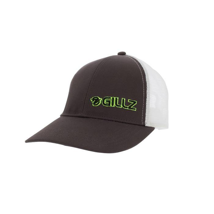 Gillz Hat - Black Two-Tone Mesh Green Neon Logo - Gillz