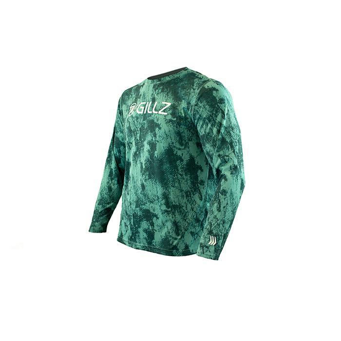 Men's LS UV Shirt - Grunge Scales - Gillz