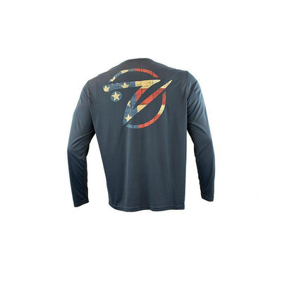 "Gillz Men's LS UV ""Americana Fish Head"" - Gillz"
