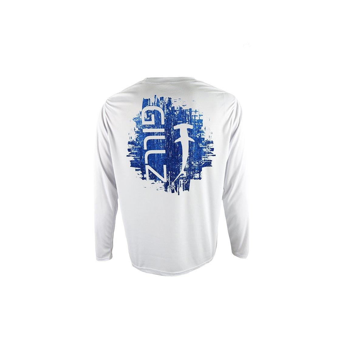 "Gillz Men's Long Sleeve UV ""HammerHead"" - White"