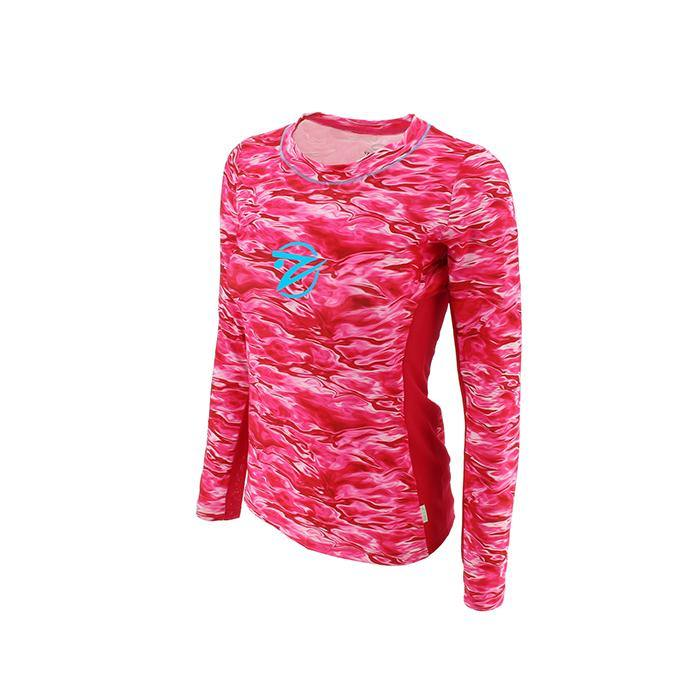 Tournament Series - Women's Pink Wave LS w Pink Mesh - Gillz