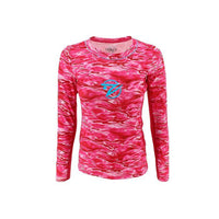 Tournament Series - Women's Pink Wave LS w Pink Mesh