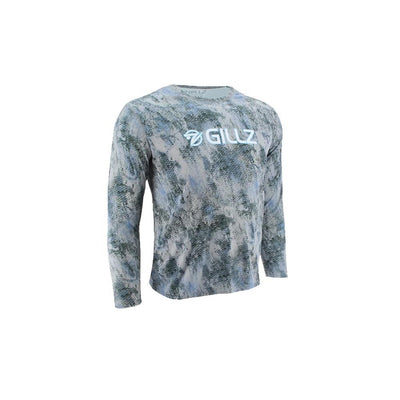 "Gillz Men's Long Sleeve UV ""Extreme Scales"" - Air Blue"