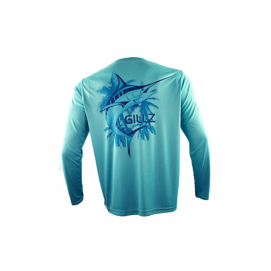 "Gillz Men's Long Sleeve UV ""True Florida Marlin"" - Meadowbrook"