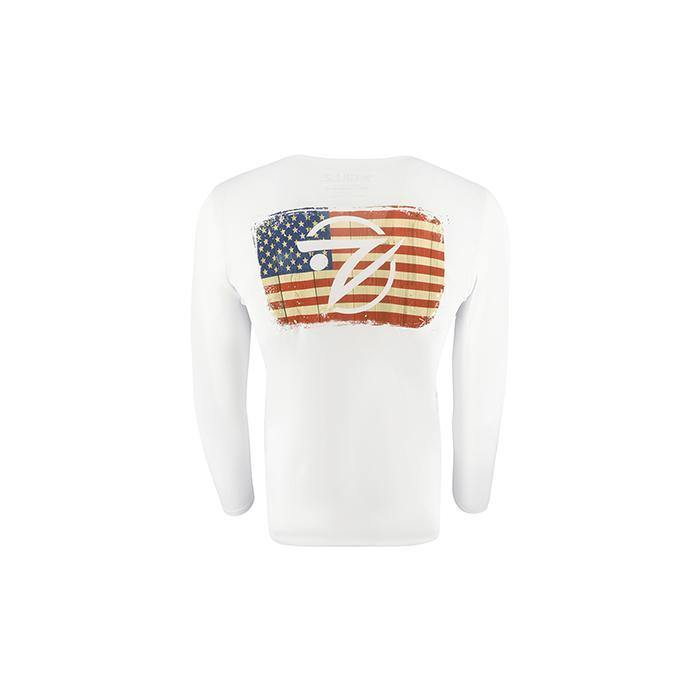 "Gillz Men's Long Sleeve UV ""All American Flag"""