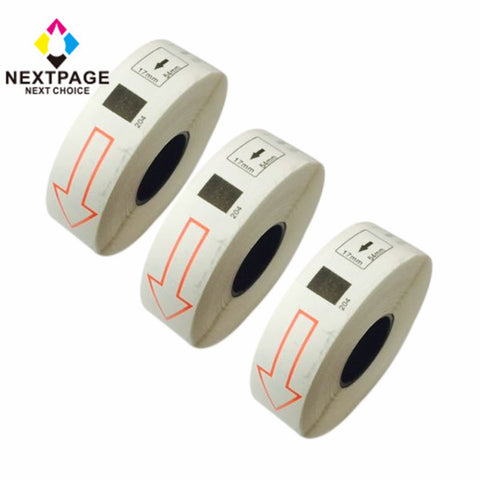 3 rolls New Compatible Brother DK-1204 Label Roll (0.66in x 2.1in; 17mmx54.3mm) without cartridge use with QL-1060N,QL-1050