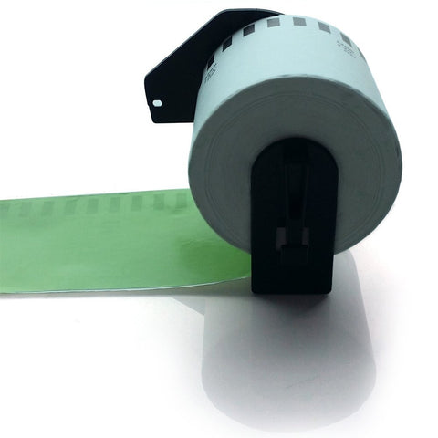 "NEXTPAGE® DK2208 (DK2205 Green) Brother Compatible continuous Label Roll (2-3/7""x100ft)with Cartridge for QL-500/QL-550/QL-650/QL-570"