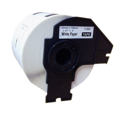 "Compatible Brother Label Roll (DK-1202) DK1202 2-3/7"" x 4"" (62mm x 100mm)"