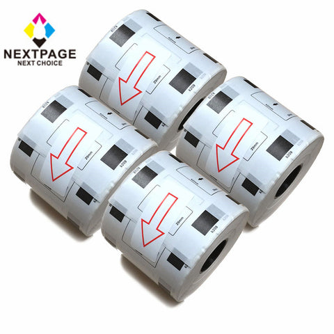 4 roll NEXTPAGE®DK-1209 small address label compatible for Brother DK1209(1.1 in x 2.4 in) with one cartridge use with QL-710W, QL-720NW, QL-1050