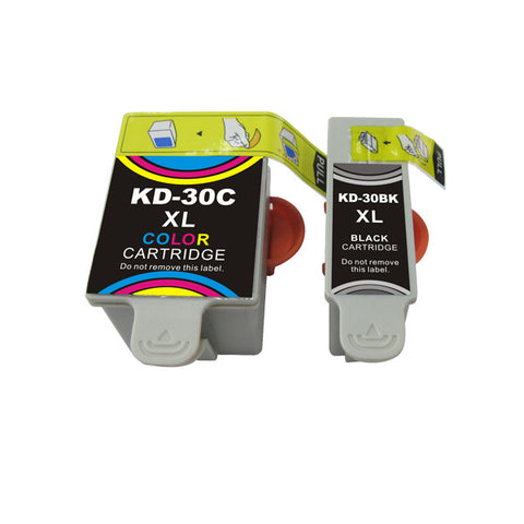 2 Packs remanufactured ink cartridge for Kodak 30xl with chip